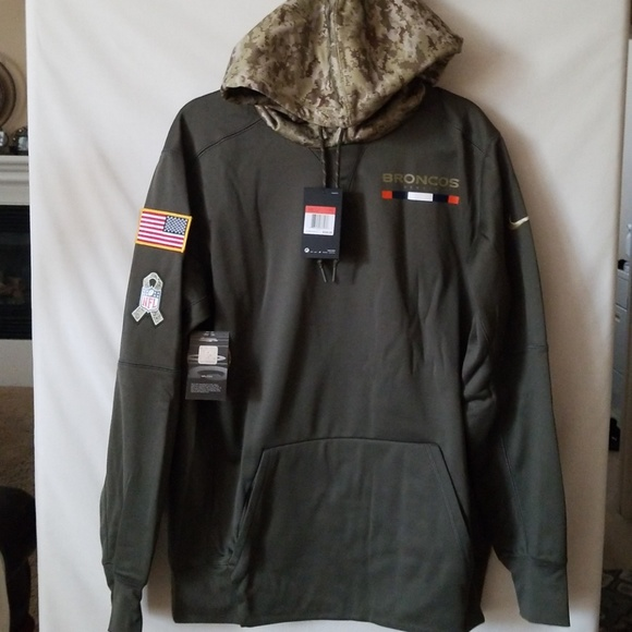 low priced bcab7 b9ff8 Men Denver Broncos Salute to Service hoodie NWT